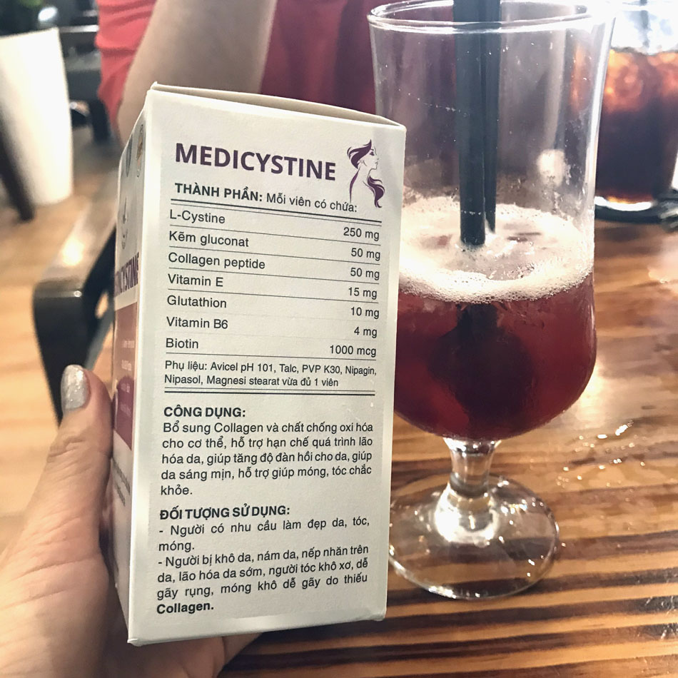 MEDICYSTINE- Viên uống đẹp da, chống lão hoá, hỗ trợ điều trị rụng tóc, sáng da 1